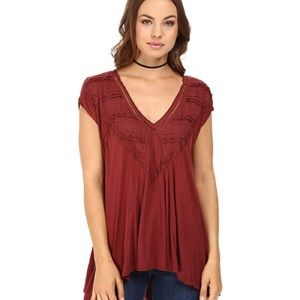 NWT Free People Abigail Tee